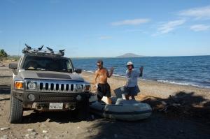Cooper & Steve assembling boat