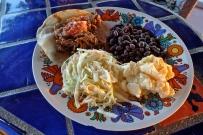 Carnitas, Black Beans, Coleslaw, Potato Salad, Salsa Fresca
