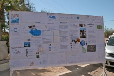 Students Created a Demonstration Board on Value of Clean Seas