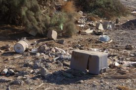 Discarded Refuse in the Arroyo Candeleria