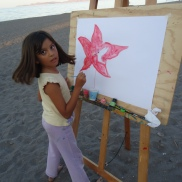 Painting on the Beach