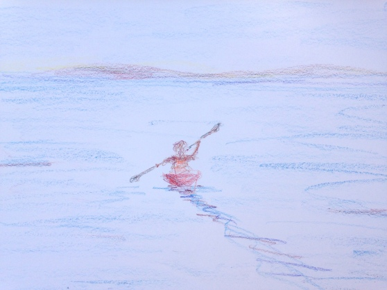 early morning kayaker